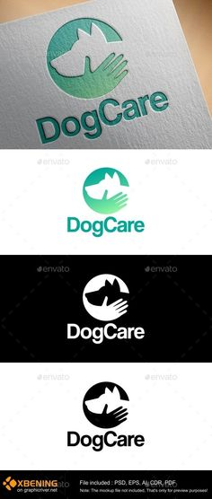 Dogcare professional and stylish dog Logo Design Template Vector Dow. - My best design list Dog Logo Design, Web Design, Logo Design Template, Brand Identity Design, Logo Templates, Branding Design, Logo Desing, Store Design, Vector Design