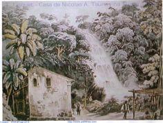 Floresta da Tijuca T. Fisquet  - Casa de Nicolas A. Taunay na Tijuca ano 1825