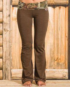 Yukon Gear Women's Brown Mossy Oak Break Up Infinity Camo-Trimmed Lounge Pants