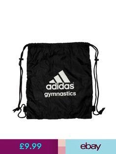 Adidas Gymnastics Gear Bag Gym Sports Tote Drawstring Pack Nylon Sling  Black  2 6a222fcff56bf