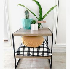 Industrial Style Side Table RRP $29.00 Kmart Homewares Take 2 - Oh So Busy Mum