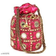 Pouches & Potlis Stylish Women's Potli  Material: Silk Pattern: Embroidered Multipack: 1 Sizes:  Free Size (Width Size: 9 cm) Country of Origin: India Sizes Available: Free Size *Proof of Safe Delivery! Click to know on Safety Standards of Delivery Partners- https://ltl.sh/y_nZrAV3  Catalog Rating: ★4.2 (1718)  Catalog Name: Elite Classy Women Pouches & Potlis CatalogID_1019739 C73-SC1077 Code: 312-6410716-