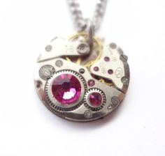 Check out this item in my Etsy shop https://www.etsy.com/listing/241918634/steampunk-necklace-vintage-clockwork