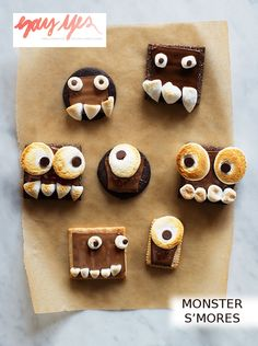 Monster S'mores - cute and tasty
