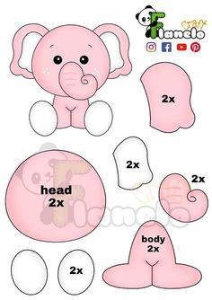 Felt Doll Patterns, Felt Animal Patterns, Felt Crafts Patterns, Stuffed Animal Patterns, Felt Templates, Applique Templates, Alphabet Templates, Baby Mobile, Animal Crafts For Kids