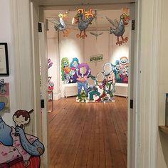 Doors are open!  ALIENS ZOMBIES & MONSTERS! at Hove Museum today. #aliens #zombies #monsters #art #museum #exhibition #Brighton #Hove #seagulls #kidlitart #characterdesign #illustratorsoninstagram #illustratorsofinstagram  #cartoon #sketch #sketchbook #sketching #drawing