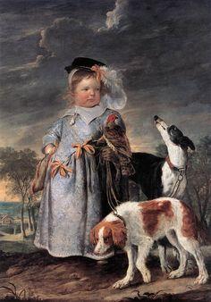 QUELLINUS, Erasmus II  [Flemish Baroque Era Painter, 1607-1678]  Portrait of a Young Boy