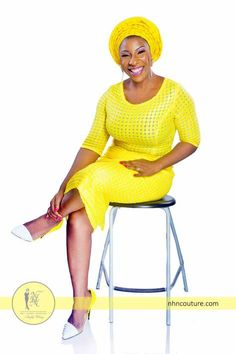 Yellow Asoebi and Oleku Inspiration by NHN Couture