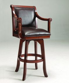 Hillsdale Palm Springs 30 Inch Swivel Barstool in Brown Cherry 4185-830