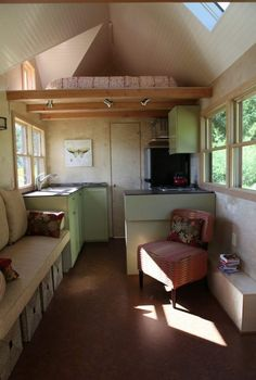 Tiny Houses on Wheels by Seattle Tiny Homes Photo. Love the coach - actually looks comfy