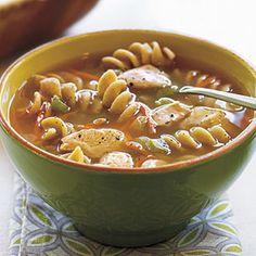 Chicken Pasta Soup | MyRecipes.com #myplate #protein #vegetable #grain