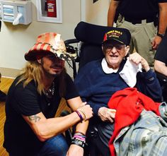 In #honor of the upcoming #VeteransDay, check out and share the photo below from when Bret visited a VA hospital to spend time with our nation's #military #heroes. As a #tribute to the brave men and women of our armed forces, we thank you for your sacrifice/service. - Team Bret #salutetoservice #sharethis #tagtwofriends #hero Operation Homefront