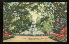 Forsyth Park - one of the beautiful places we like to visit in Savannah.