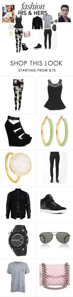 """""""him and hers"""" by tobash21 ❤ liked on Polyvore featuring Dolce Vita, Truffle, Blu Bijoux, Astley Clarke, Cheap Monday, VIPARO, Osiris, Prada Sport, Billabong and Rebecca Minkoff"""