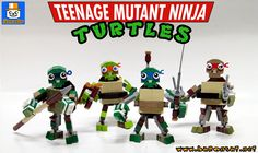 https://flic.kr/p/RJJF6U | TMNT MIXELISED | Now the group shot with all the turtles.  Need to make a combat scene now.