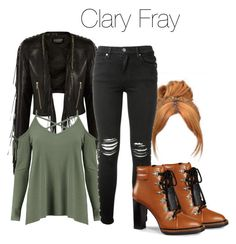 """""""Clary Fray - Shadowhunters"""" by shadyannon ❤ liked on Polyvore featuring Balmain, Boohoo, Tod's and AMIRI"""