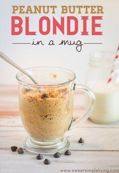 Peanut Butter Blondie In A Mug