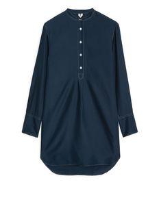 Arket silk shirt dress