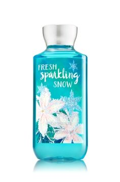 Fresh Sparkling Snow - Shower Gel - Signature Collection - Bath & Body Works - Wash your way to softer, cleaner skin with a rich, bubbly lather bursting with fragrance. Moisturizing Aloe and Vitamin E combine with skin-loving Shea Butter in our most irresistible, beautifully fragranced formula!