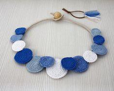 Collar círculos collar ganchillo moda de verano por stasiSpark