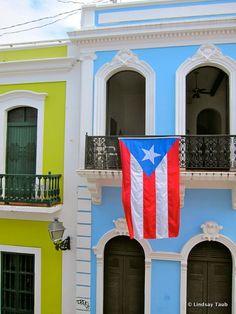 Puerto Rico Flag, Old San Juan, Puerto Rico