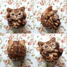 Needle felted Bengal cat by Jowe from Hong Kong