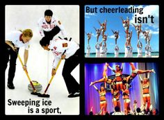 Ahaha. Okay. Cuz its so insanely hard to sweep ice. But no, heel stretches and double downs are just easy as pie. You wish.