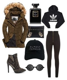 """Rainy day"" by elenazaharia on Polyvore featuring Balmain, adidas, Nasaseasons, Muse, Chanel and Superdry"