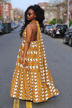 Image of CARMEN - African Caramel Fabric Max InfinitY Dress