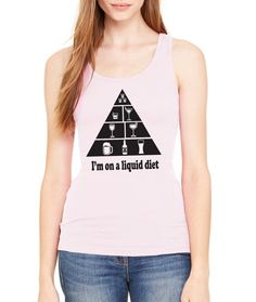 Im on a liquid diet Womens Workout Tanktop by AnotherLifeTees