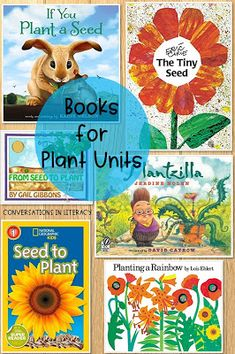 Books for your plant unit and plant activities and a FREE Plant Activity! Life Cycle of Plants and Parts of a Plant are included in this fun spring plant writing activity flip book! #freebie #writingactivity #conversationsinliteracy #classroom #elementary #firstgrade #secondgrade #thirdgrade first grade, second grade, third grade