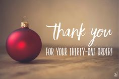 Thank you for your Thirty One Christmas order!