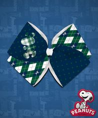 Peanuts - Snoopy Argyle - Green/Navy Quad
