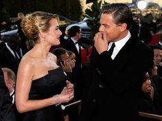 Leonardo DiCaprio and Kate Winslet Red Carpets Photos - Leo and Kate Being Adorable Leonardo And Kate, Kate Winslet And Leonardo, Leonardo Dicaprio Kate Winslet, Leo And Kate, Titanic Movie, The Beverly, Beverly Hilton, Actors & Actresses, Cinema