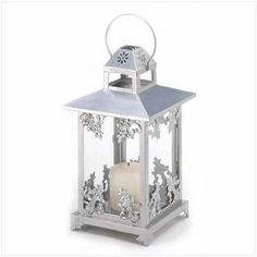 Set of 10 Silver Scrollwork Candle Lanterns - gorgeous for wedding centerpieces! specialoccasionsforless.com