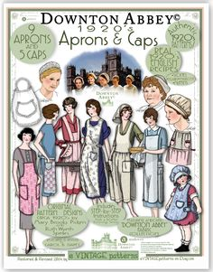 Downton Abbey Aprons and Caps