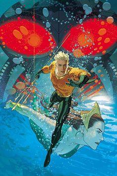 """AQUAMAN 2 A EL ahogamiento,"""" Capítulo dos: En la edición # 2, la unidad entre la tierra y el mar es el mayor sueño de Arthur Curry.  Pero Negro Manta tiene un sueño demasiado: para destruir todo lo que significa Aquaman, empezando por la embajada del rey Atlante mar y todos en él."""