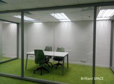 Glass System Wall 新蒲崗勤達中心 (1框雙清玻璃屏風) 2