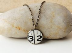 Number 32 Necklace Tape Measure in a Resin by JustKJewellery, £12.00