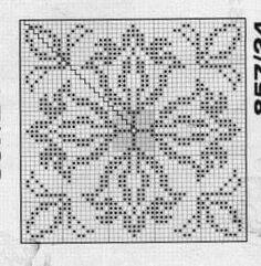 @nika Crochet Motif Patterns, Crochet Diagram, Weaving Patterns, Crochet Chart, Crochet Squares, Crochet Doilies, Embroidery Patterns, Cross Stitch Borders, Cross Stitch Flowers