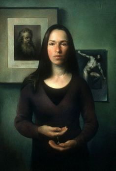 Juliette Aristides Self Portrait with Star Oil on canvas Portrait Images, Portrait Art, Portrait Paintings, Oil Paintings, Juliette Aristides, Selfies, New Artists, Figure Painting, Artists