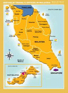 Malaysia Map Malaysia Trip, Malaysia Truly Asia, Singapore Malaysia, Malaysia Travel, Asia Travel, Travel Photos, Travel Tips, Laos Vietnam, Tourist Map