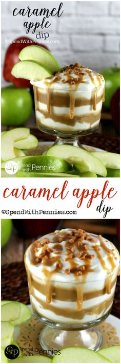 If you love caramel apples, you'll go crazy for this quick and easy Caramel Apple Dip!  Rich creamy layers loaded up with caramel makes the perfect appetizer, snack or dessert!