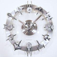 A Star Trek Clock Built From Micro Machines