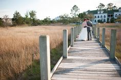Small coastal town wedding portraits.  Photo by Beth Hamilton Photography  www.engagingeventsobx.com   #engagingeventsobx  #coastalvillagewedding