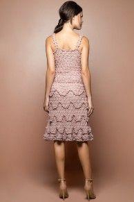 Pearl Bellini Crochet Dress - Vanessa Montoro USA - vanessamontorolojausa