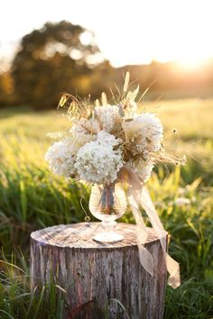 A rustic autumn arrangement.