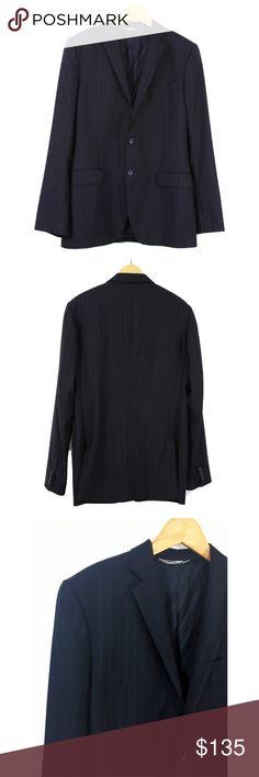 64e1f656a5 Dolce & Gabanna Pinstriped Navy Wool Sport Coat 50 D&G Dolce &