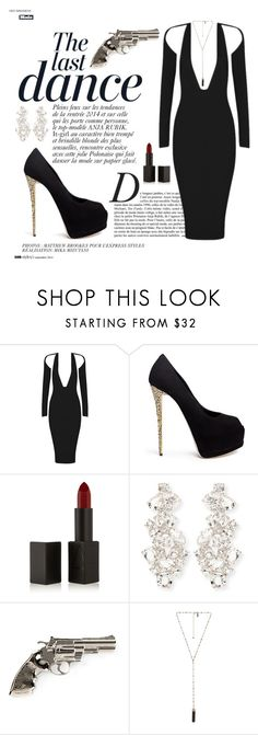 A fashion look from November 2015 featuring bandage dresses, black suede pumps and Yves Saint Laurent. Browse and shop related looks. Casino Royale Dress, Posh Girl, Girl Inspiration, Nars Cosmetics, Giuseppe Zanotti, Yves Saint Laurent, Streetwear Brands, Kate Spade, Luxury Fashion