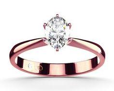 "Stunning ""Flora"" rose gold diamond ring with an oval diamond cut #yorxs #diamantring #diamant"